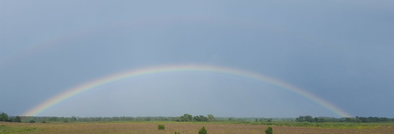 Rainbow of farm field.